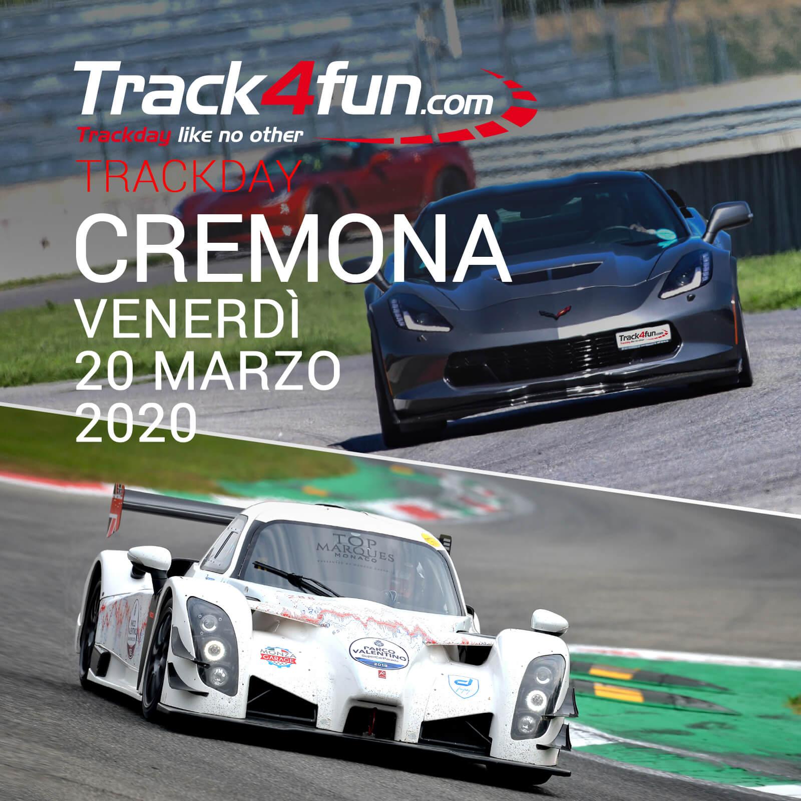 In Pista A Cremona – 20 Marzo 2020